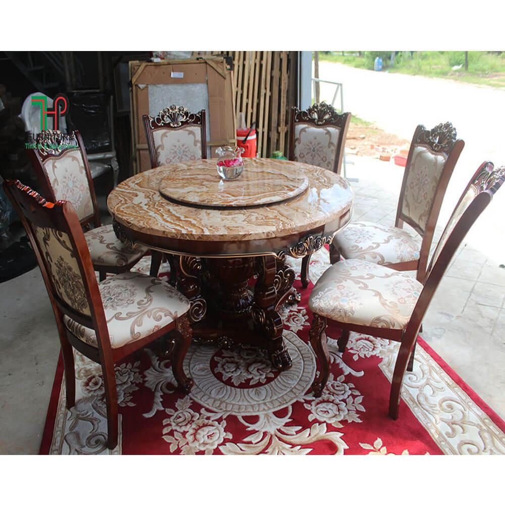 bàn ăn mặt đá cổ điển (3)