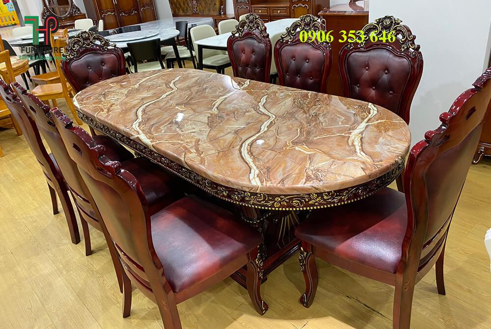 bộ bàn ghế ăn cổ điển cao cấp